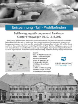 Keep Moving Switzerland | Taiji-Therapie im Kloster Frenswegen 2017