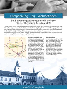 Keep Moving | Taiji-Therapie bei Bewegungsstörungen und Parkinson | Taiji-Training im Kloster Huysburg · Mai 2020